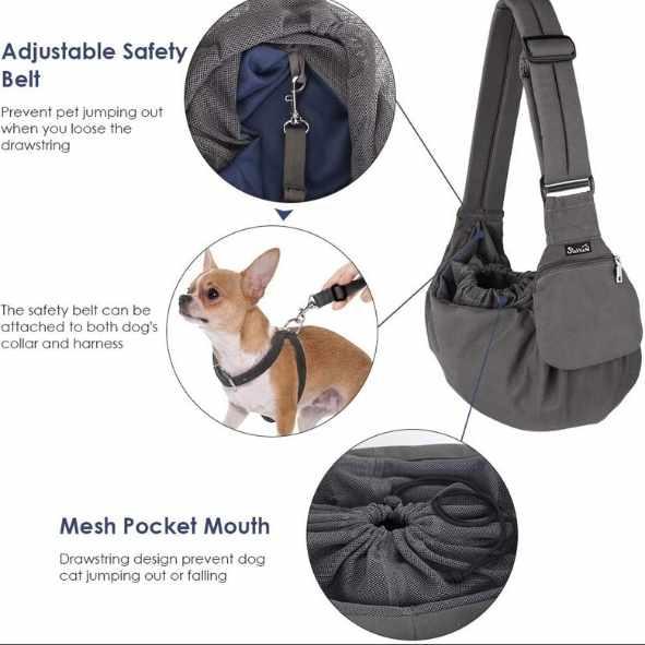 Bolso para llevar perro chihuahua a todos lados de paseo, en bicicleta o en el metro.